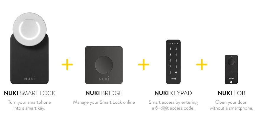 nuki smartlock bridge keypad fob