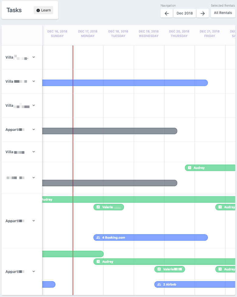 tasks scheduling rental ninja bookingsync